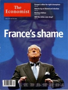 Couverture de The Economist suite au 21 avril 2002