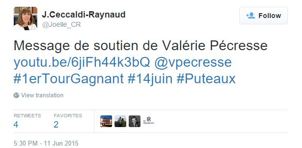 Soutien de Valérie Pécresse à Joëlle Ceccaldi-Raynaud