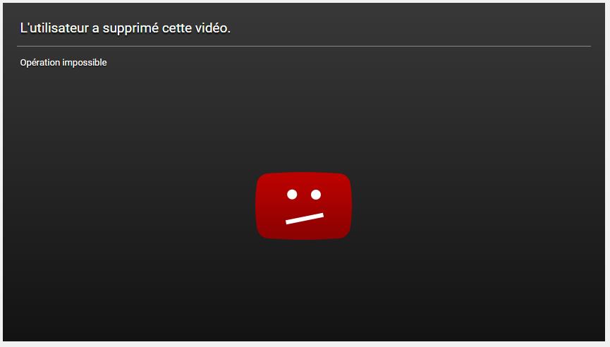 Erreur YouTube