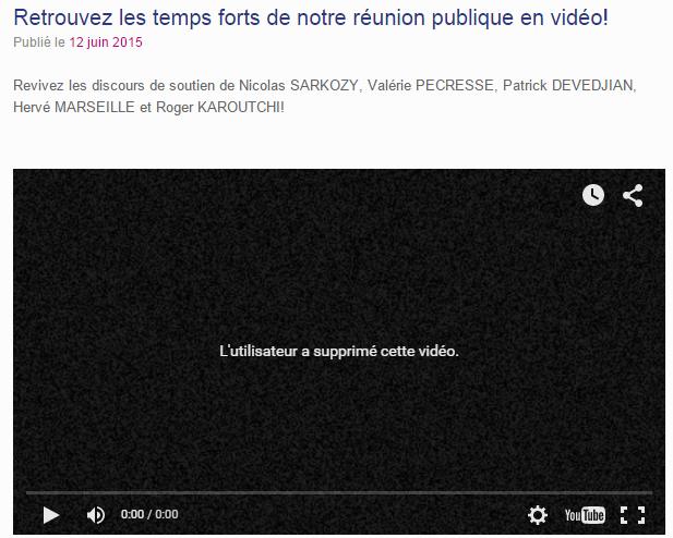 Censure vidéo meeting Ceccaldi Puteaux