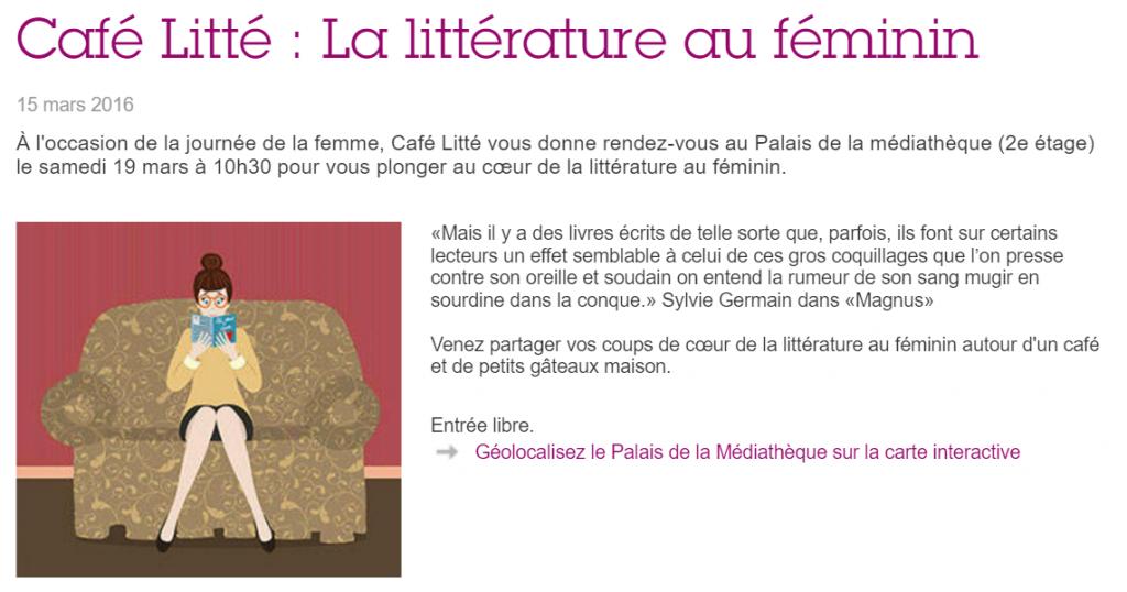 Sexisme à Puteaux : Littérature au féminin