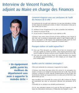 Vincent Franchi parle de l'audit financier de Puteaux