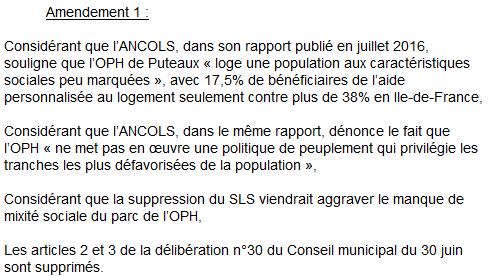 Amendement surloyers Puteaux